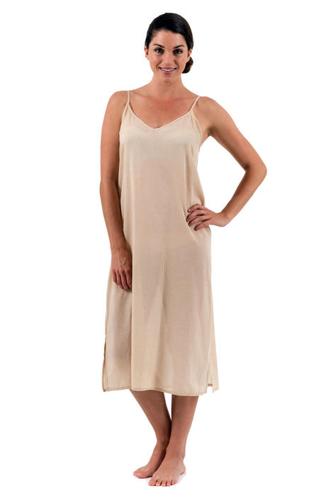 A Light Cool Cotton Slip In A Long Length To Go Under A