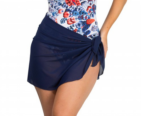 Mesh skirt in navy to wear over your swimsuit on the beach ...