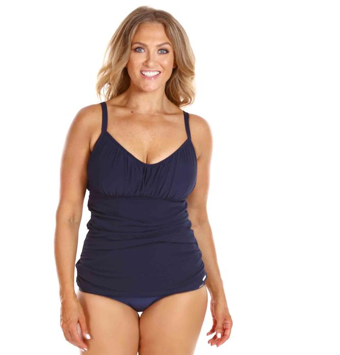 a beautiful navy blue underwire tankini swim top for a fuller bust in d to g cup online at. Black Bedroom Furniture Sets. Home Design Ideas
