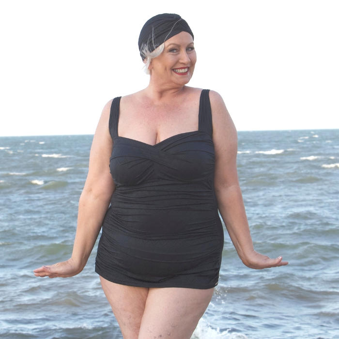 e0d5292544b38 Classic Black Retro Swimsuit Online at Sequins and Sand