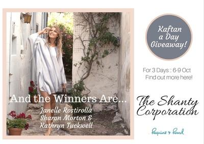 A Kaftan a Day Giveaway - for 3 Days! And the winners are..