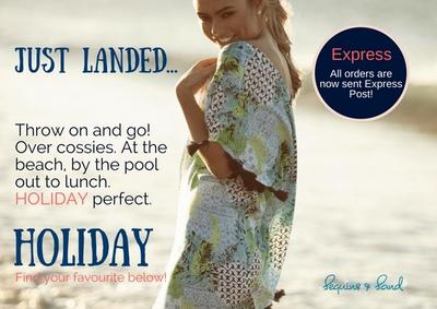 HOLIDAY perfect. NEW Beach Dresses and Kaftan Cover-ups from Australia's HOLIDAY!