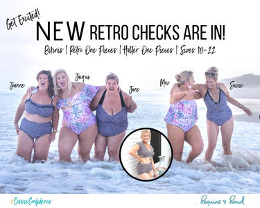 NEW Retro Swim is in! Black & White Checks for a Very Happy Summer!