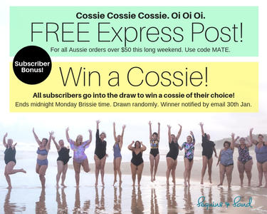 FREE Express Post for orders over $50 + Bonus FREE Aussie Cossie Giveaway