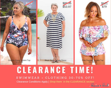It's CLEARANCE time! Swim + Resort Wear 30-70% Off!