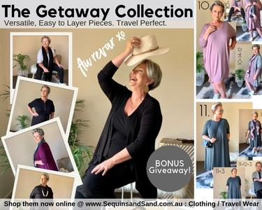 The NEW Getaway Collection is here! Hand-picked, versatile Clothing just for you. BONUS giveaway for subscribers!