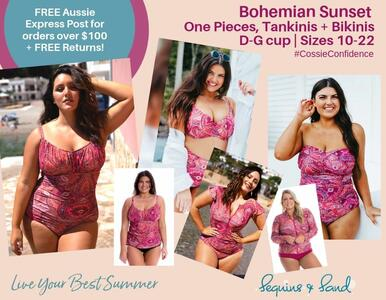 NEW Stunning Bohemian Sunset Swimwear. A print you'll love in styles you trust.