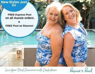 Blue Summer! The NEW Blue Hawaii Swimwear Range in Plus Sizes Too is IN!