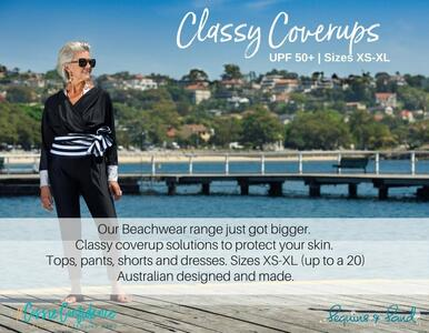 Classy Coverage - NEW UPF50+ Beachwear is in! You really need to see it.