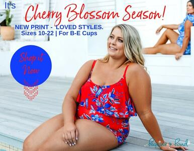 5 Much Loved Swimsuit Styles in NEW Cherry Blossom Print | Sizes 10-22