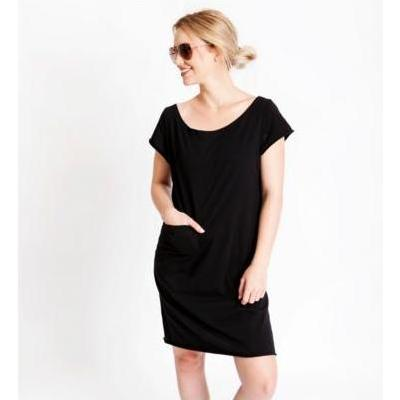 [Bracewell Pocket Dress in Black]