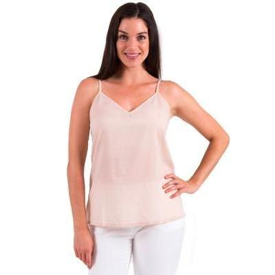 [Spirituelle Celine Cotton Camisole Top in Crema]