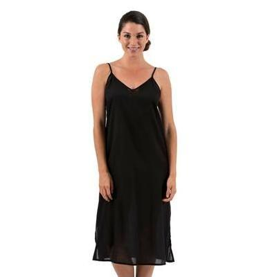 [Spirituelle Celine Long Slip Dress in Black | S-5XL]