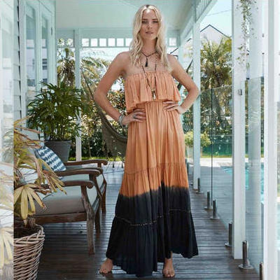 [Island Jade Ibiza Lucinda Dress in Black/Copper]
