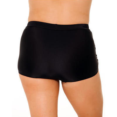 [Capriosca Swimwear Black Ruched Bikini Bottom]