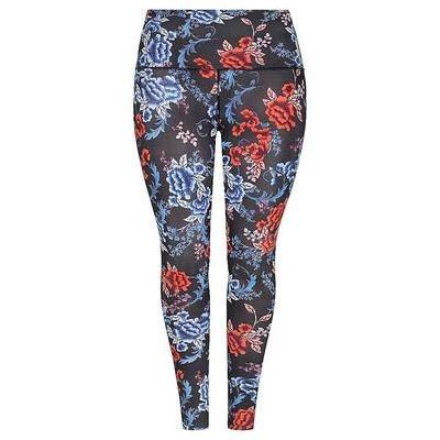 [High Waisted Leggings in Embroidered Roses by Capriosca]