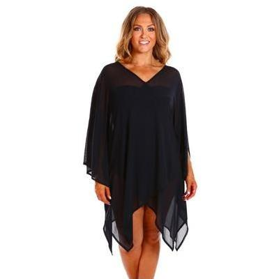 [Mesh Kaftan Beach Dress in Black by Capriosca Swimwear]