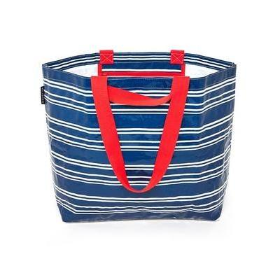 [Project Ten Medium Beach Tote Navy Stripe]
