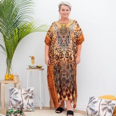 [Out of Africa Long Kaftan Dress]