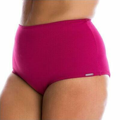 [High Waisted Bikini Pant in Honeycomb Plum]