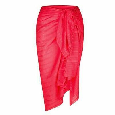 [Large Cotton Sarong in Red by Capriosca Swimwear]