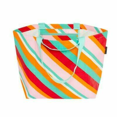 [Candy Stripe Medium Beach Bag Tote by Project Ten]