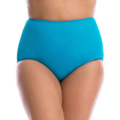 [High Waisted Bikini Pant in Honeycomb Turquoise]
