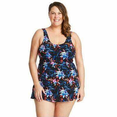 [Princess Mastectomy Swimdress in Mystic Hibiscus]