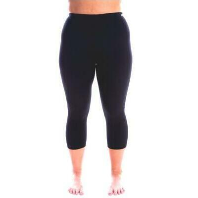 [3/4 Swim-Active Black Leggings]