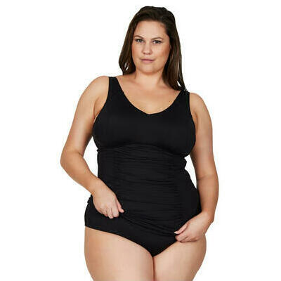 [Raphael Underwire Tankini Top in Black for an E-G Cup]