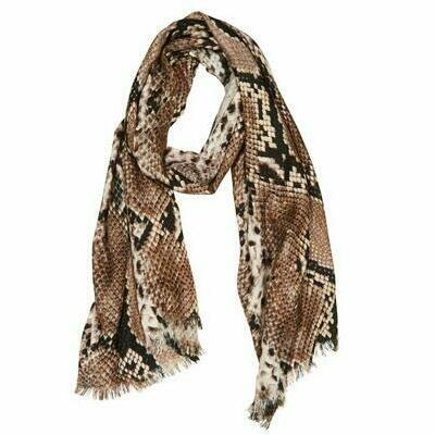 [The Hinterland Large Scarf Wrap in Snake Print]