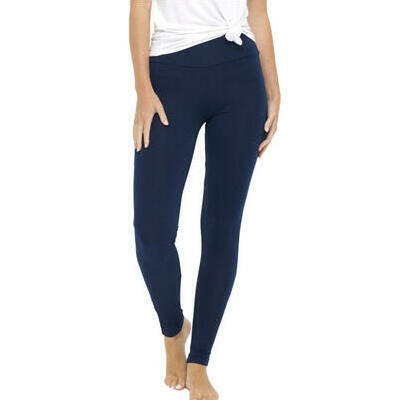 [Navy Long Bamboo Leggings in Plus Sizes too]