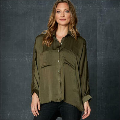 [Liberty Long Sleeve Shirt in Moss Green]