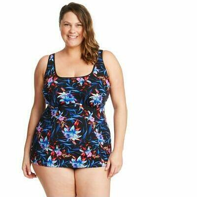 [Tank Style Underwire Tankini Top in Mystic Hibiscus]