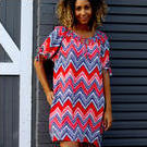 [Jam Jam Summer Dress in Zig Zag Red - $99.95]