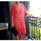[Kalokeri Crochet Cover Up and Dress in Coral - $159.00]