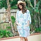 [Kalokeri Bella Beach Dress in Paisley Aqua | Larger Sizes Too - $159.00]