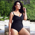 [Capriosca Swimwear Criss Cross One Piece in Black - $119.00]