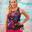 [Swim Top in Fireworks Print by Coola Cozzies - $59.95]