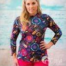 [Coola Cozzies Pull On Rashie for Women in Fireworks Print - $84.95]