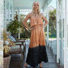 [Island Jade Ibiza Lucinda Dress in Black/Copper - $85.00]