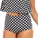 [Curvy Swimwear Black Dot High Waisted Pant - $55.00]