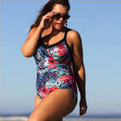 [Capriosca Swimwear Folklore Roses Underwire One Piece - $132.00]