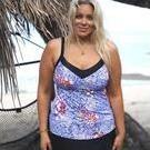 [Curvy Swimwear Underwire Tankini Top in Garden Party - $99.00]