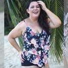 [Curvy Swimwear 3 Tier Tankini Top in Night Blossom - $99.00]