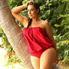 [Capriosca Swimwear Flamenco Red Flouncy One Piece - $121.00]