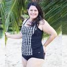[Capriosca Swimwear White and Black Dots Tankini Top - $99.00]