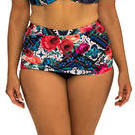 [Capriosca Swimwear Folklore Roses Ruched Skirted Bikini Bottom - $69.00]