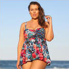 [Capriosca Swimwear Swing Tankini Top in Folklore Roses - $88.00]