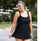 [Capriosca Swimwear Black Panel Swimdress - $139.00]
